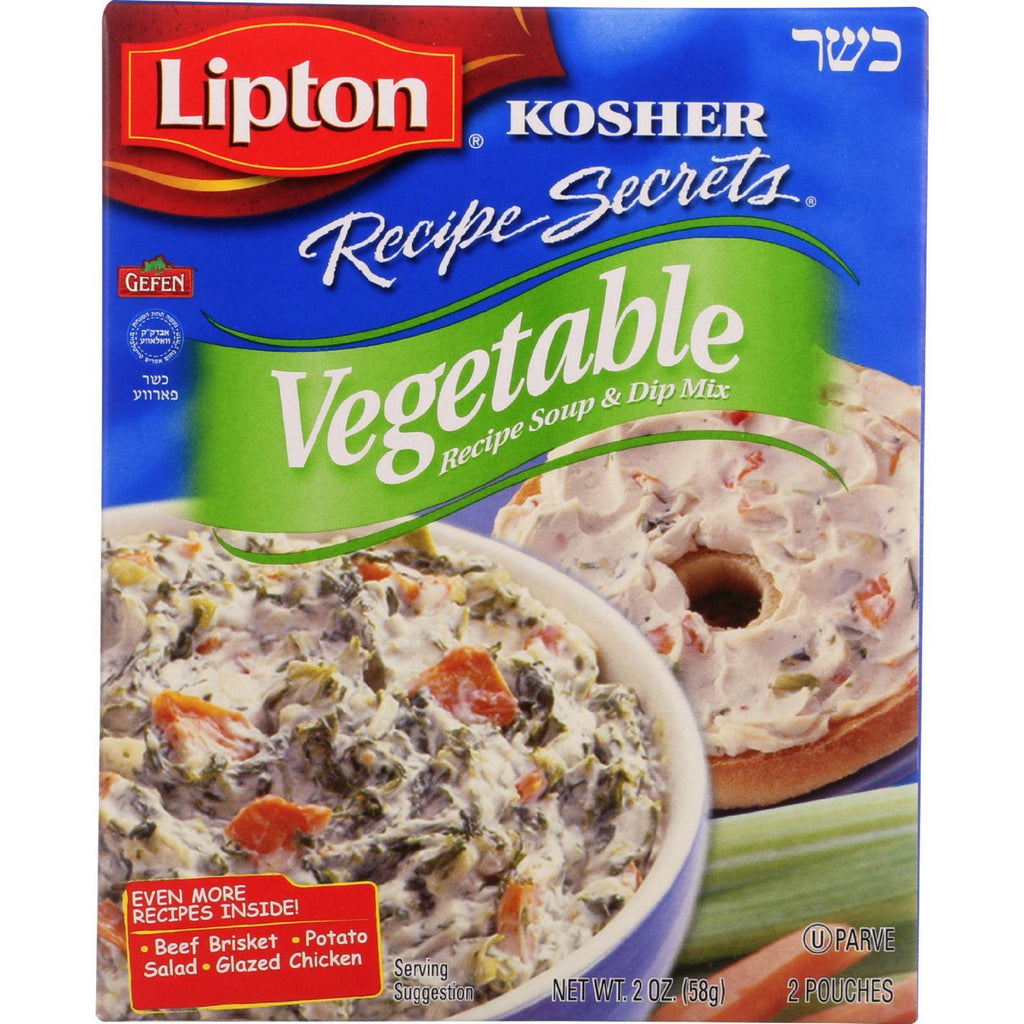 Lipton Soup And Dip Mix - Recipe Secrets - Vegetable - Kosher - Packet - 2 Oz - Case Of 12-Lipton-pantryperks