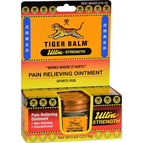 Tiger Balm Pain Relief Ointment - 0.63 oz-Tiger Balm-pantryperks