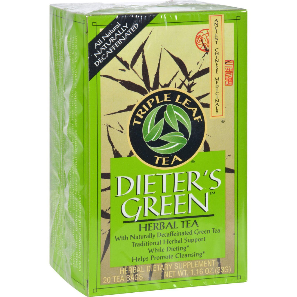 Triple Leaf Tea Dieters Decaffeinated Green Tea - 20 Tea Bags-Triple Leaf Tea-pantryperks