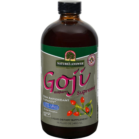 Nature's Answer Goji Wolfberry Supreme - 16 Fl Oz-Nature's Answer-pantryperks