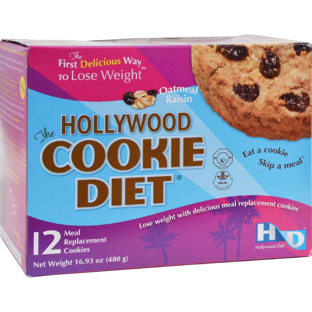 Hollywood Diet Miracle Products Hollywood Cookie Diet Meal Replacement Cookie Oatmeal - 12 Cookies-Hollywood Diet-pantryperks