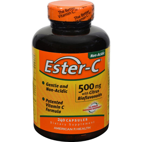American Health Ester-C with Citrus Bioflavonoids - 500 mg - 240 Count-American Health-pantryperks