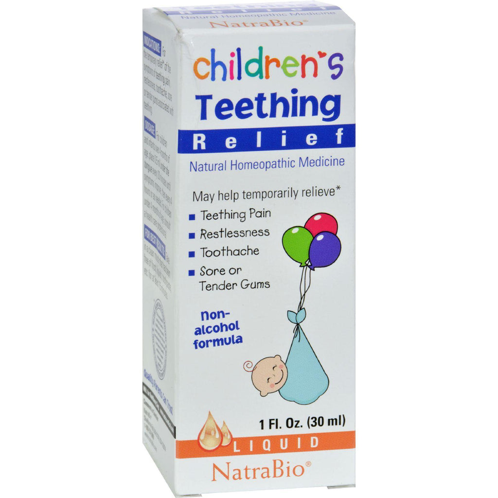 Natrabio Children's Teething Relief Drops - 1 Fl Oz-Natrabio-pantryperks