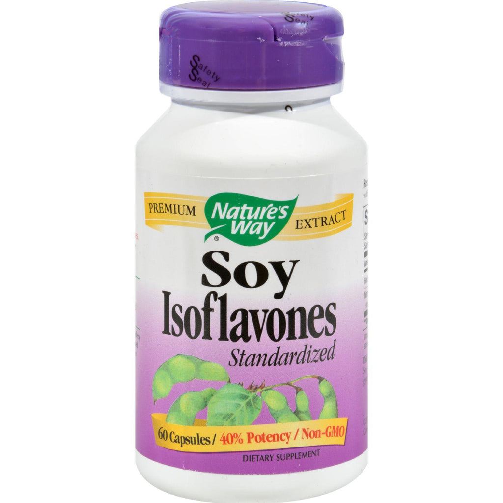 Nature's Way Soy Isoflavones Standardized - 60 Capsules-Nature's Way-pantryperks