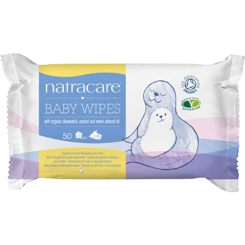 Natracare Organic Cotton Baby Wipes - 50 Pack-Natracare-pantryperks