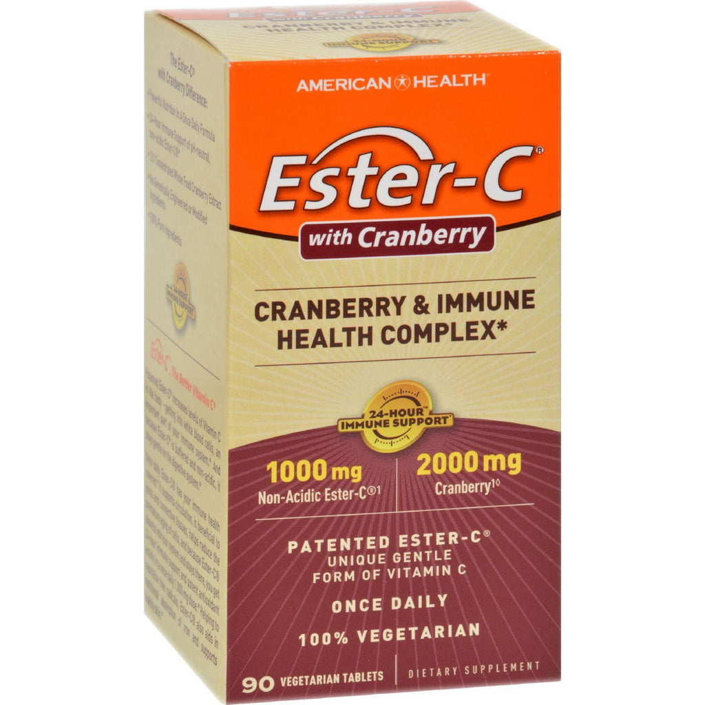 American Health Ester-c Urinary Tract Formula - 90 Vegetarian Tablets-American Health-pantryperks