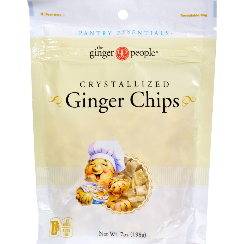 Ginger People Crystallized Ginger Chips - Bakers Cut - 7 Oz - Case Of 12-Ginger People-pantryperks