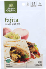 Simply Organic Seasoning Mix Fajita - 1 oz-Simply Organic-pantryperks