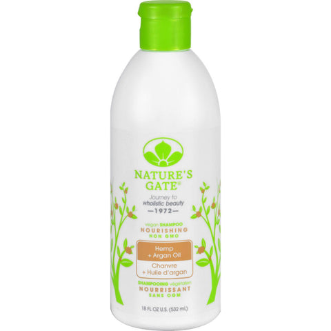 Nature's Gate Nourishing Shampoo Hemp + Argan Oil - 18 fl oz-Nature's Gate-pantryperks