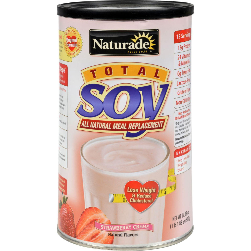 Naturade Total Soy Meal Replacement Strawberry Creme - 17.88 Oz-Naturade-pantryperks