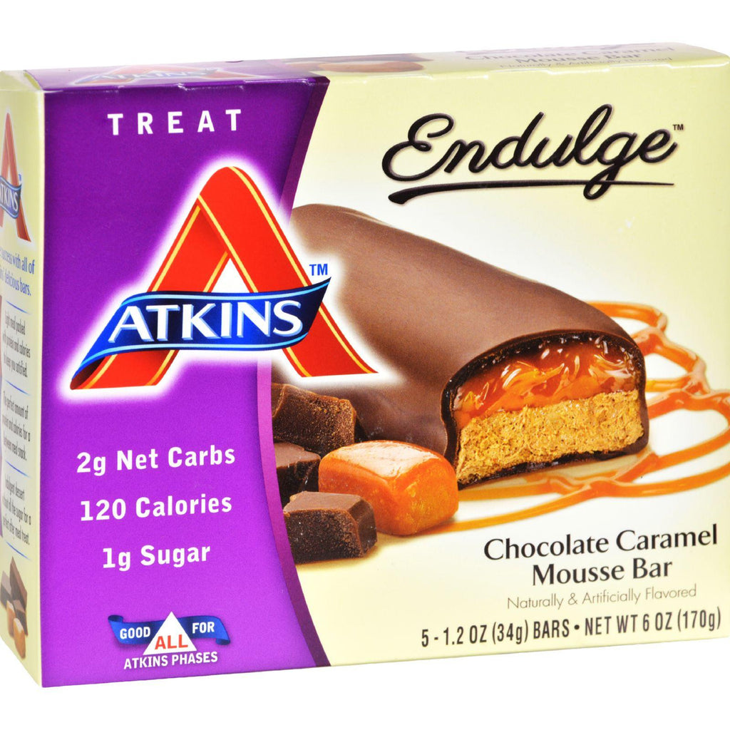 Atkins Endulge Bar Chocolate Caramel Mousse - 5 Bars-Atkins-pantryperks