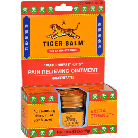 Tiger Balm Pain Relieving Ointment - Extra Strength - .63 Oz-Tiger Balm-pantryperks