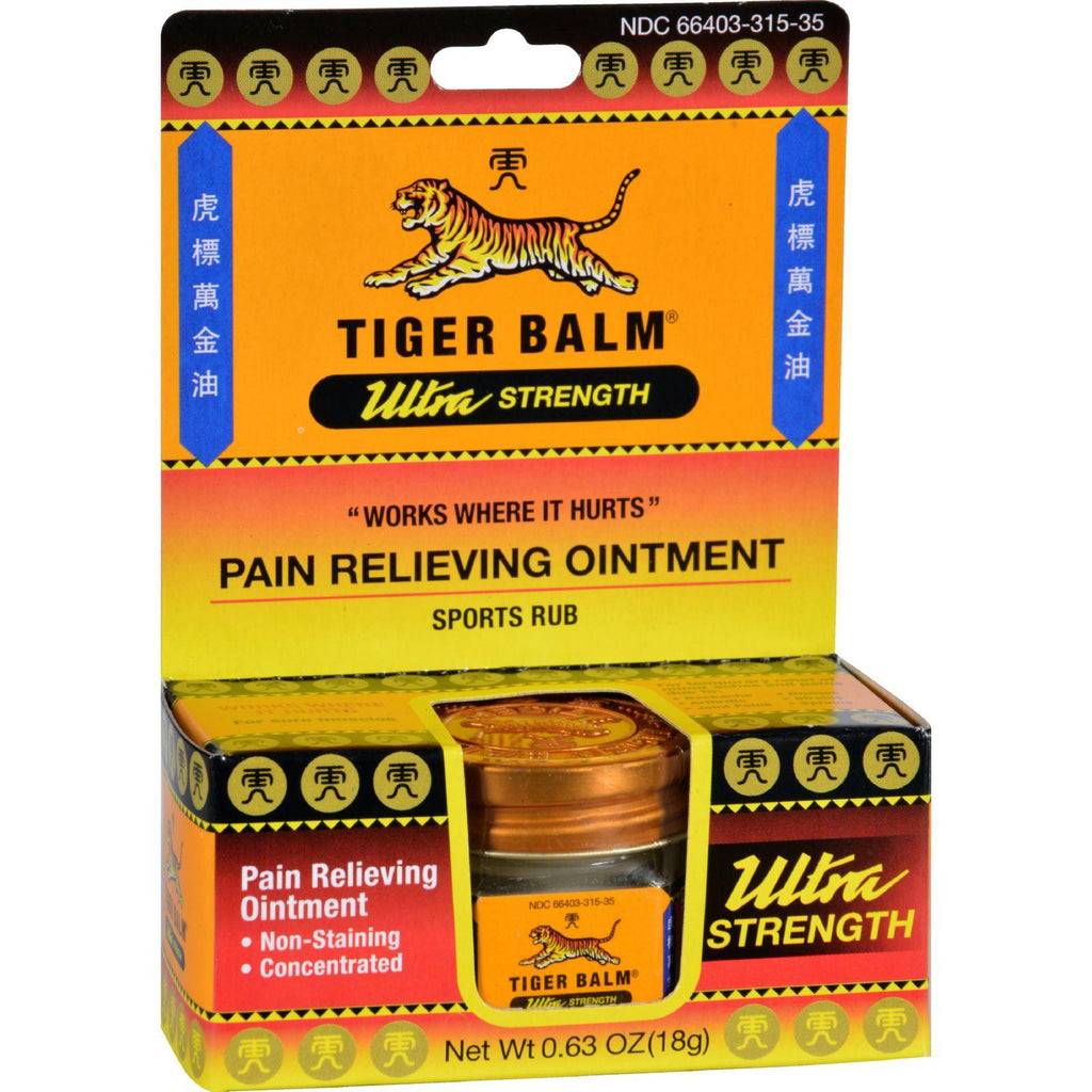 Tiger Balm Ultra Strength Pain Relieving Ointment - 0.63 Oz-Tiger Balm-pantryperks