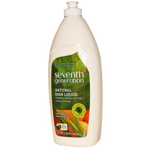 Seventh Generation Dish Liquid - Lemongrass And Clementine Zest - 25 Oz-Seventh Generation-pantryperks
