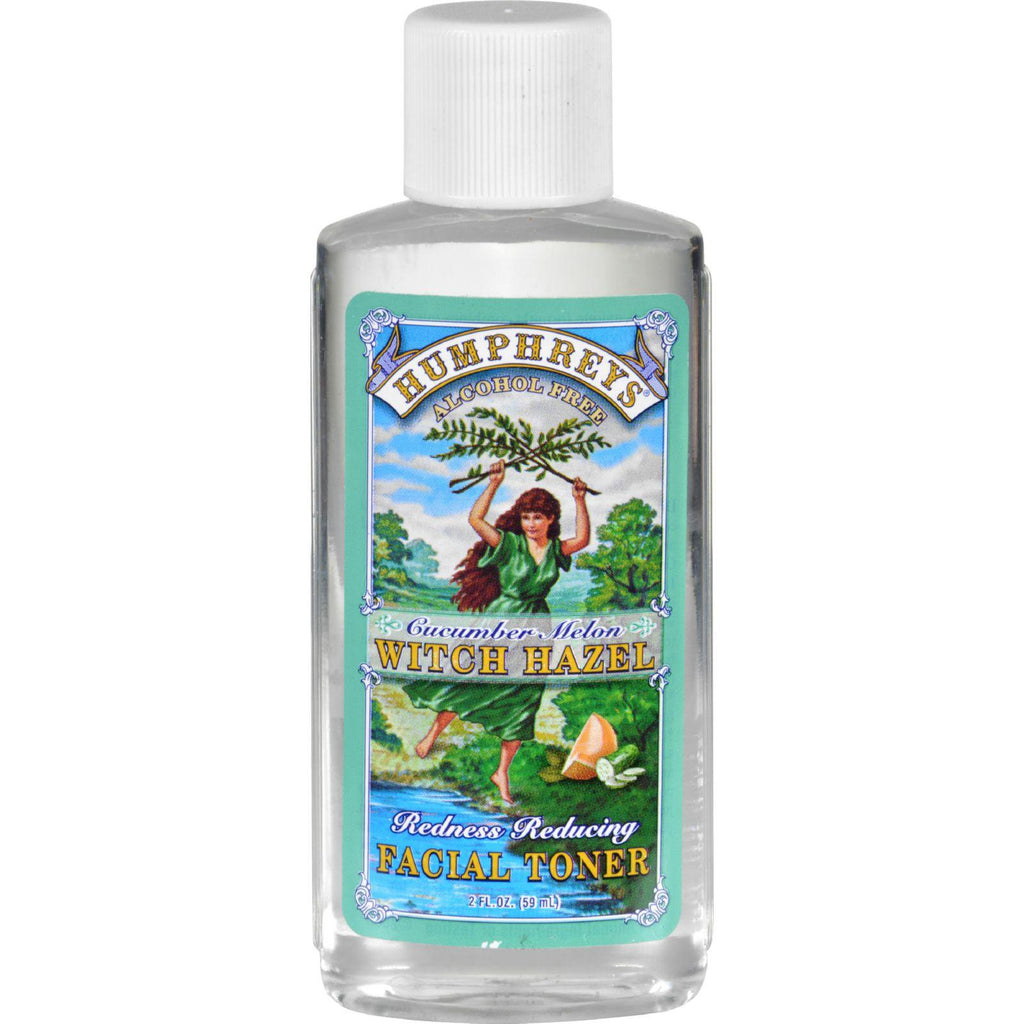 Humphrey's Homeopathic Remedy Witch Hazel Facial Toner Redness Reducing - 2 Fl Oz-Humphrey's Homeopathic Remedies-pantryperks