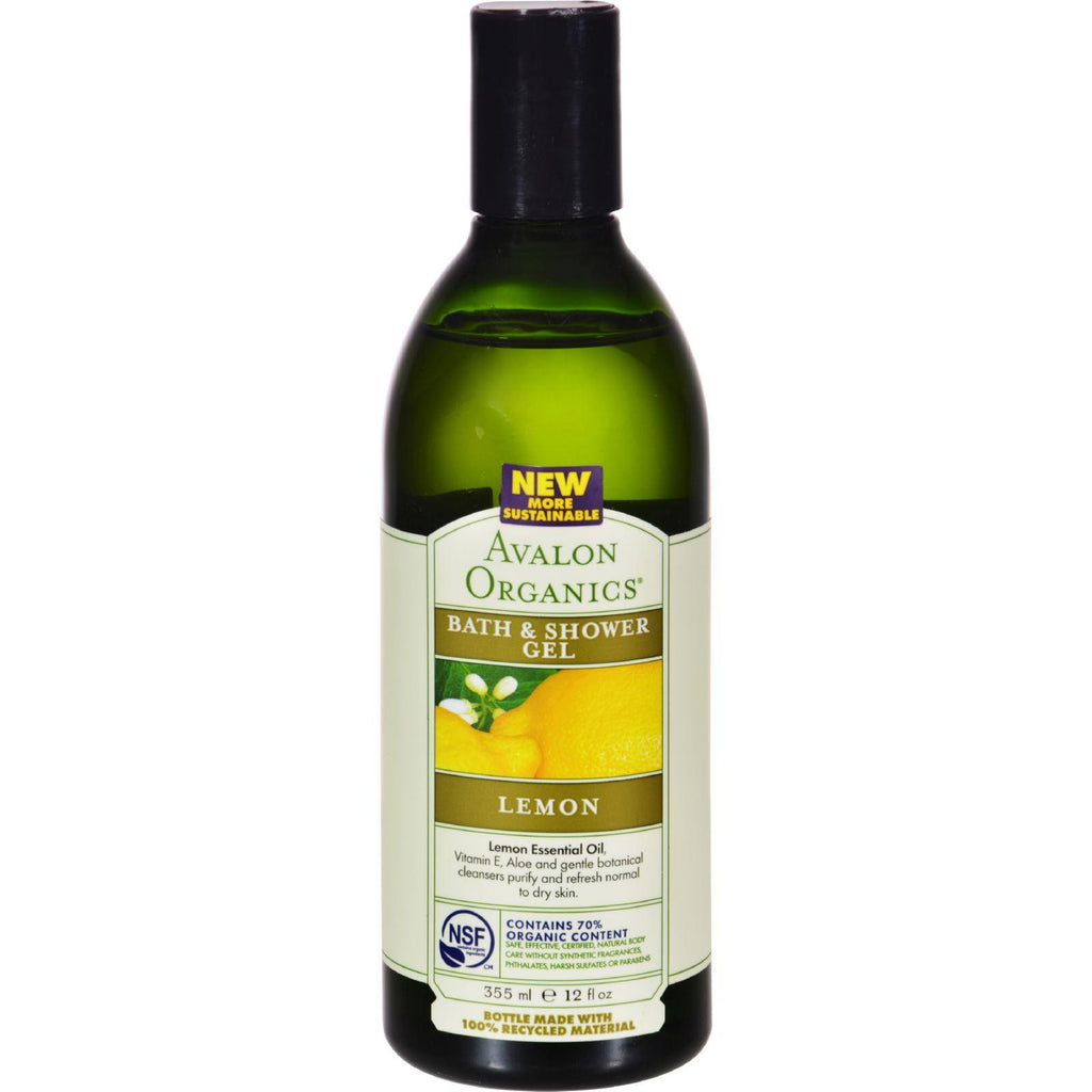 Avalon Organics Bath & Shower Gel Refreshing Lemon - 12 fl oz-Avalon-pantryperks