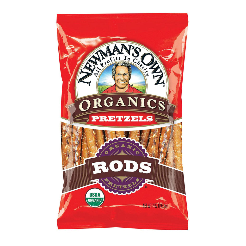 Newman's Own Organics Salted Pretzel Rods - Case Of 12 - 8 Oz.-Newman's Own Organics-pantryperks
