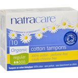 Natracare 100% Organic Cotton Tampons - Regular - 10 Pack-Natracare-pantryperks