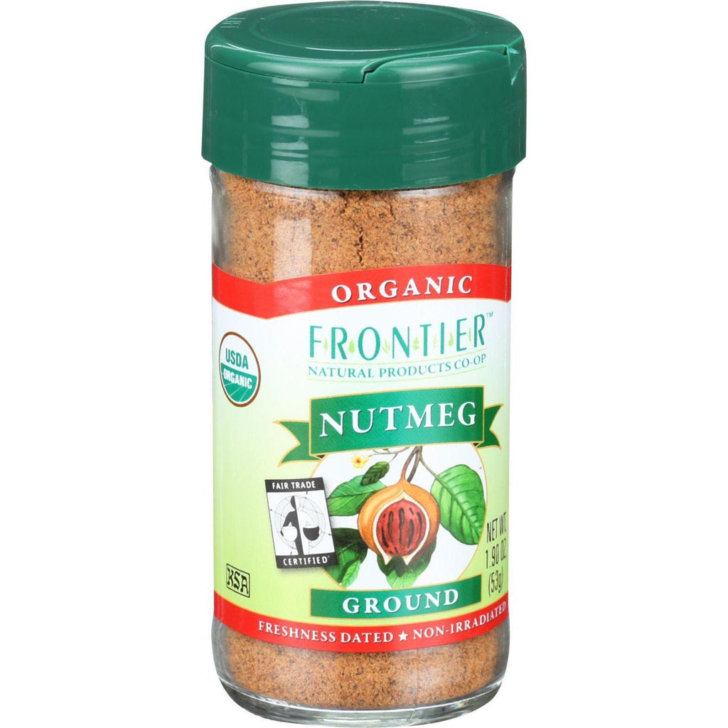 Frontier Herb Nutmeg - Organic - Fair Trade Certified - Ground - 1.9 Oz-Frontier Herb-pantryperks