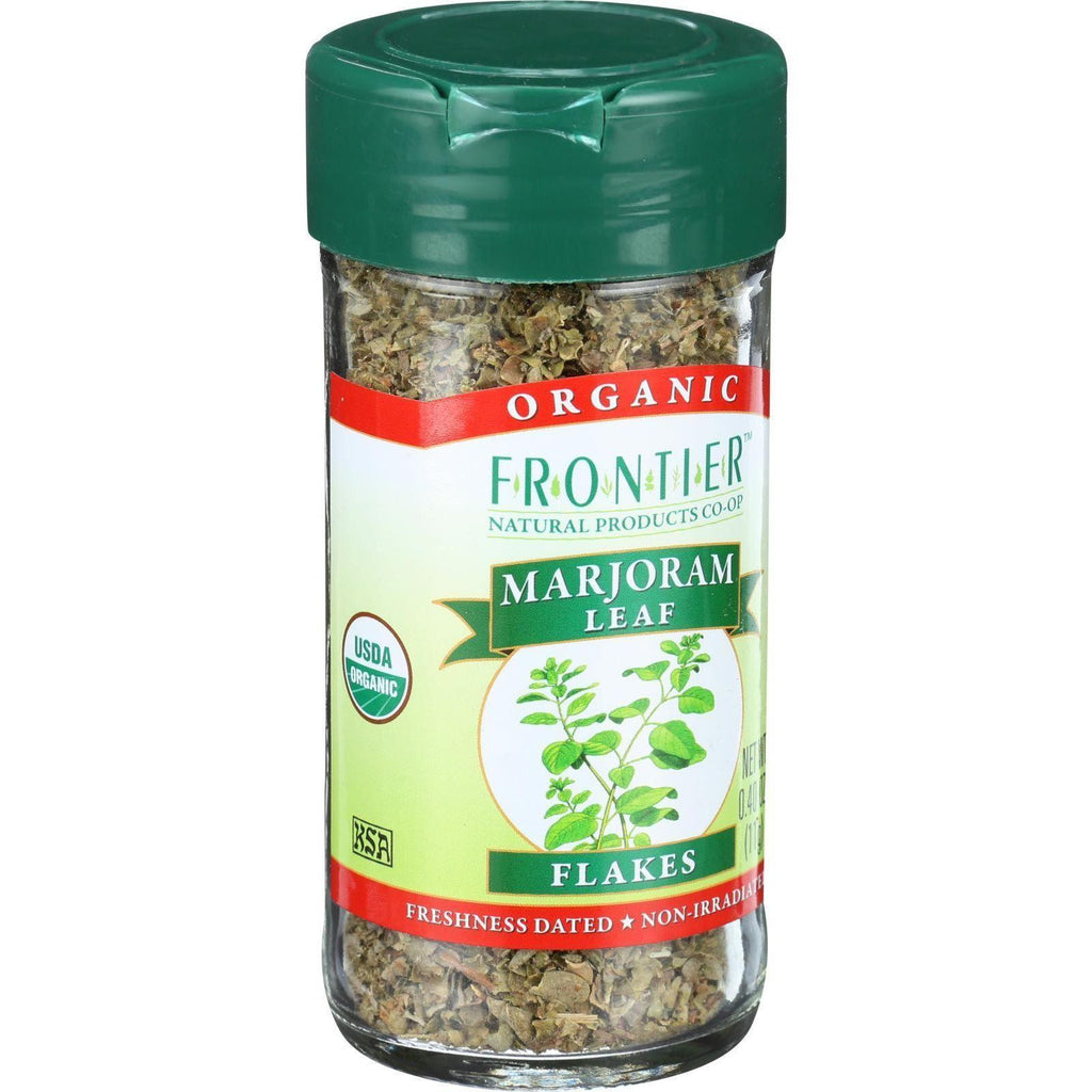 Frontier Herb Marjoram Leaf - Organic - Flakes - Cut And Sifted - .40 Oz-Frontier Herb-pantryperks