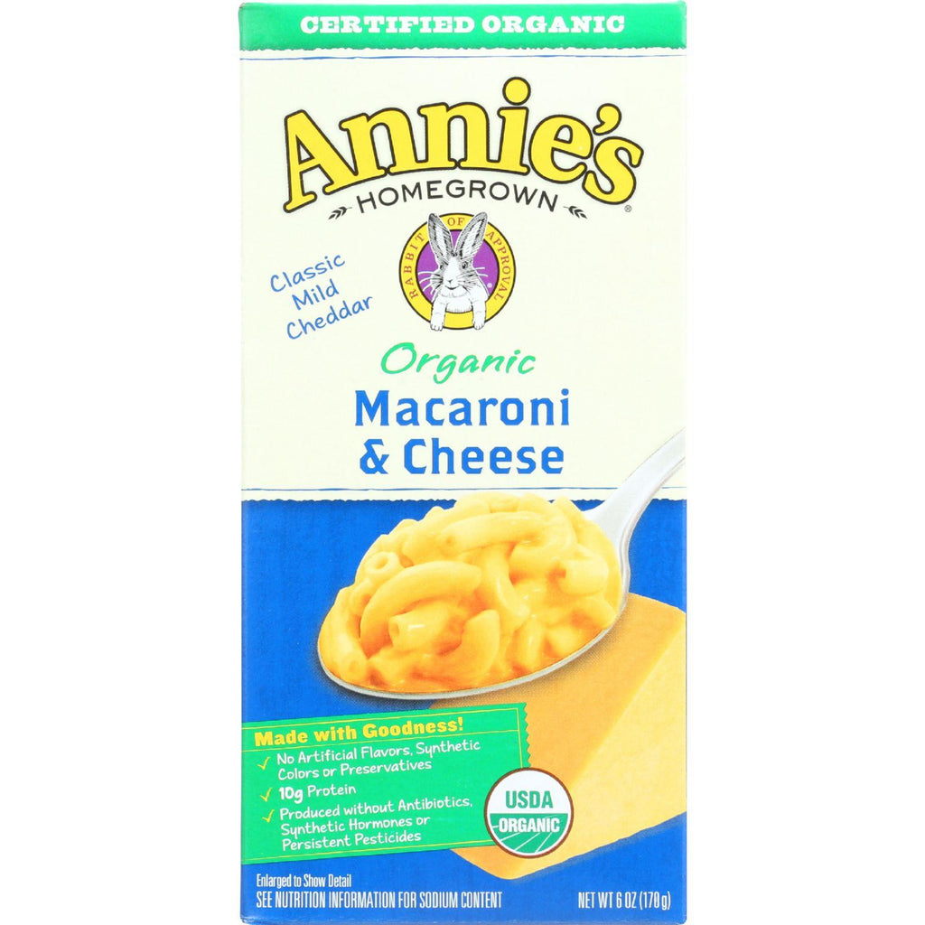 Annie's Homegrown Organic Macaroni & Cheese Classic Mild Cheddar - 6 oz-Annie's Homegrown-pantryperks