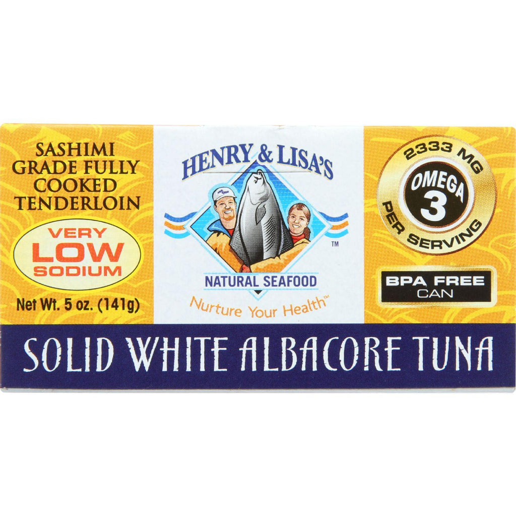 Henry & Lisa's Natural Seafood Solid White Albacore Tuna - 5 oz-Henry & Lisa Natural Seafood-pantryperks