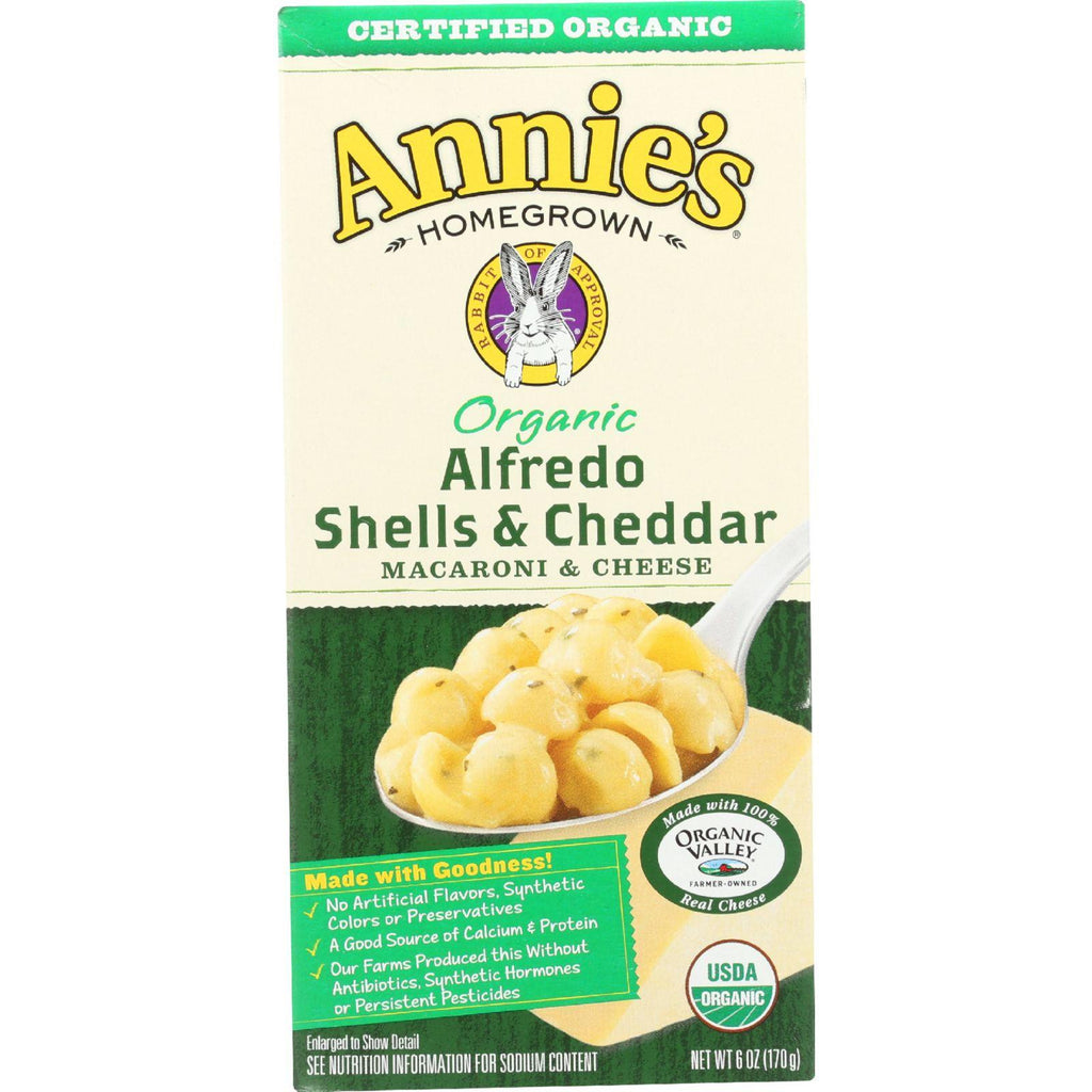 Annie's Homegrown Organic Alfredo Shells and Cheddar - 6 oz-Annie's Homegrown-pantryperks