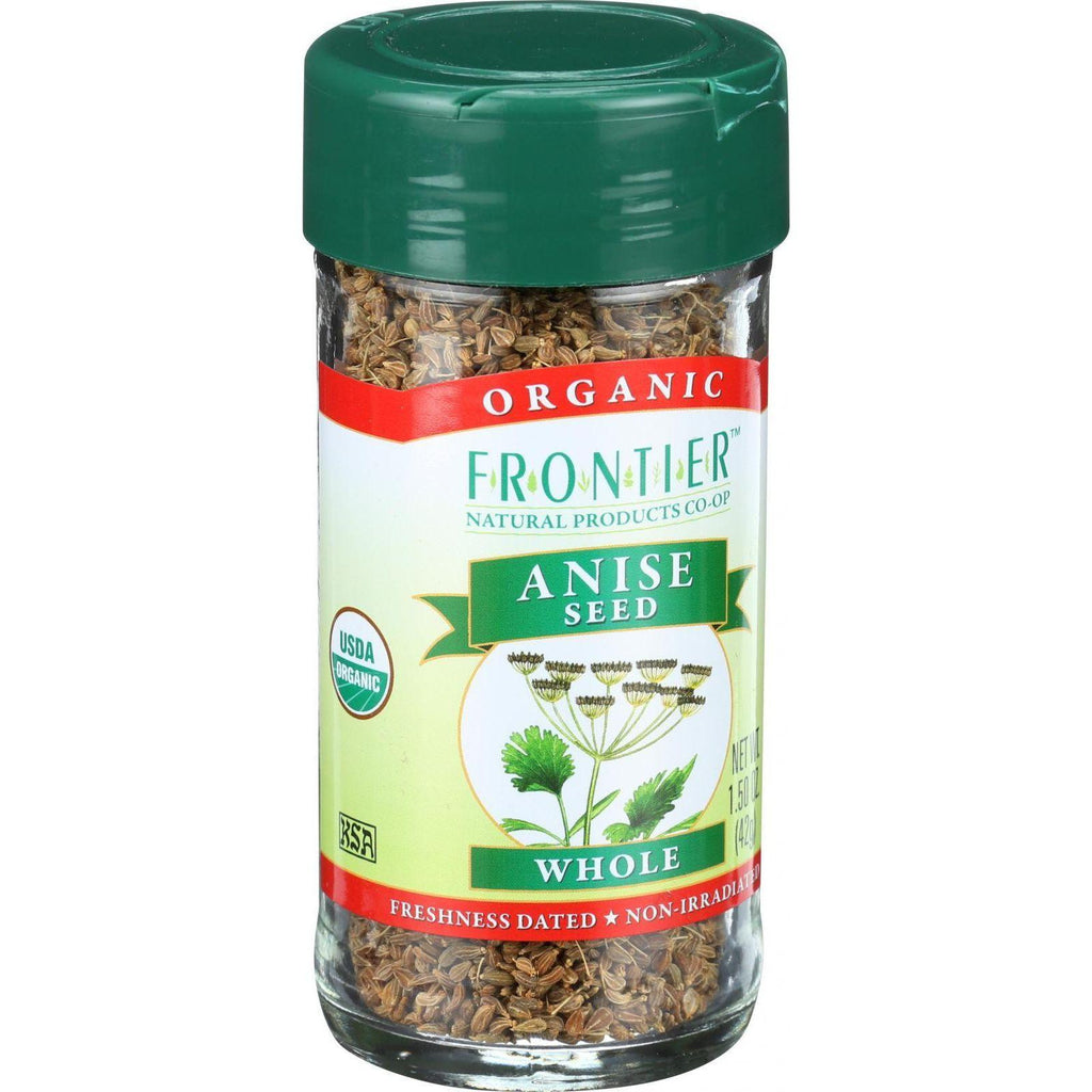Frontier Herb Anise Seed - Organic - Whole - 1.44 Oz-Frontier Herb-pantryperks