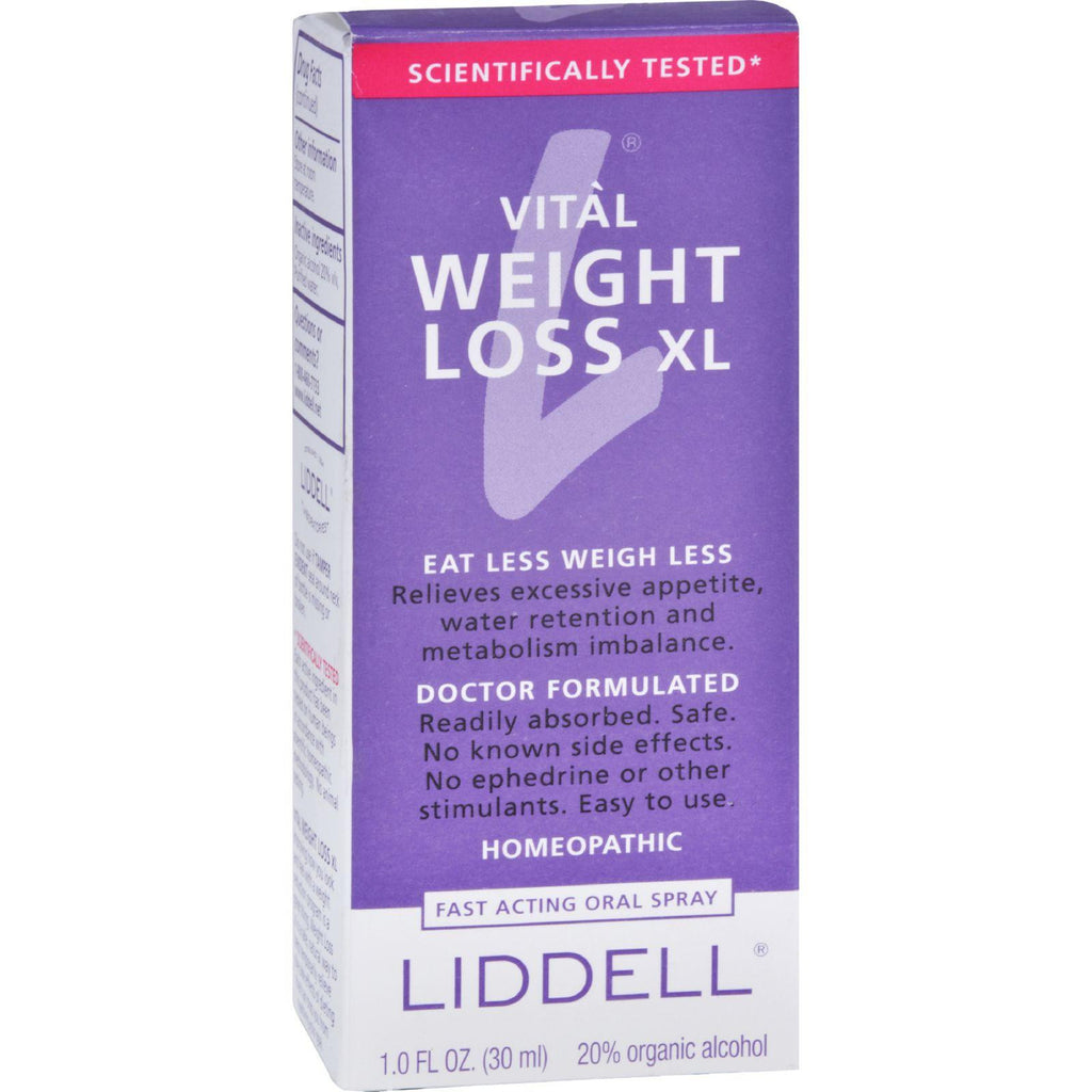 Liddell Homeopathic Weight Loss Xl - 1 Fl Oz-Liddell Homeopathic-pantryperks