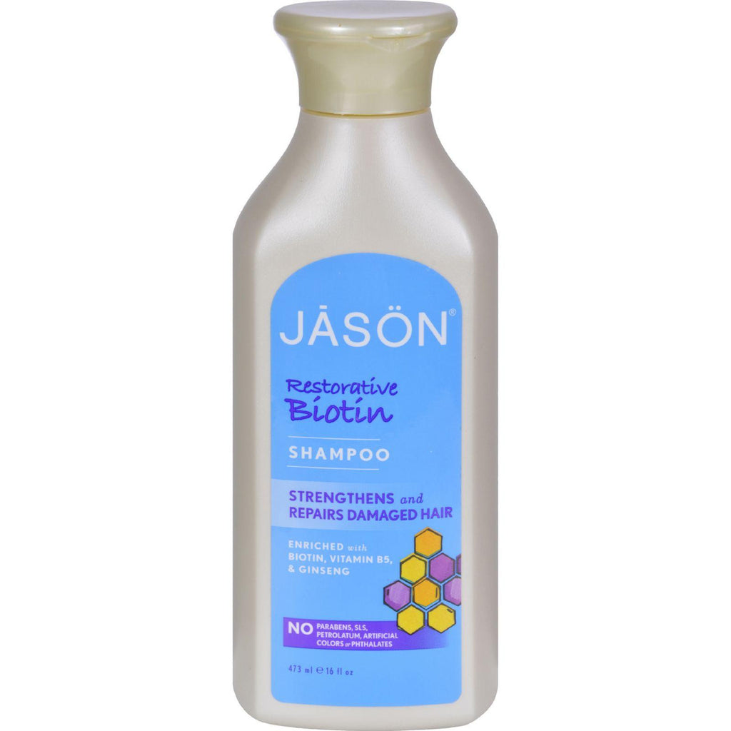 Jason Shampoo Restorative Biotin - 16 fl oz-Jason Natural Products-pantryperks