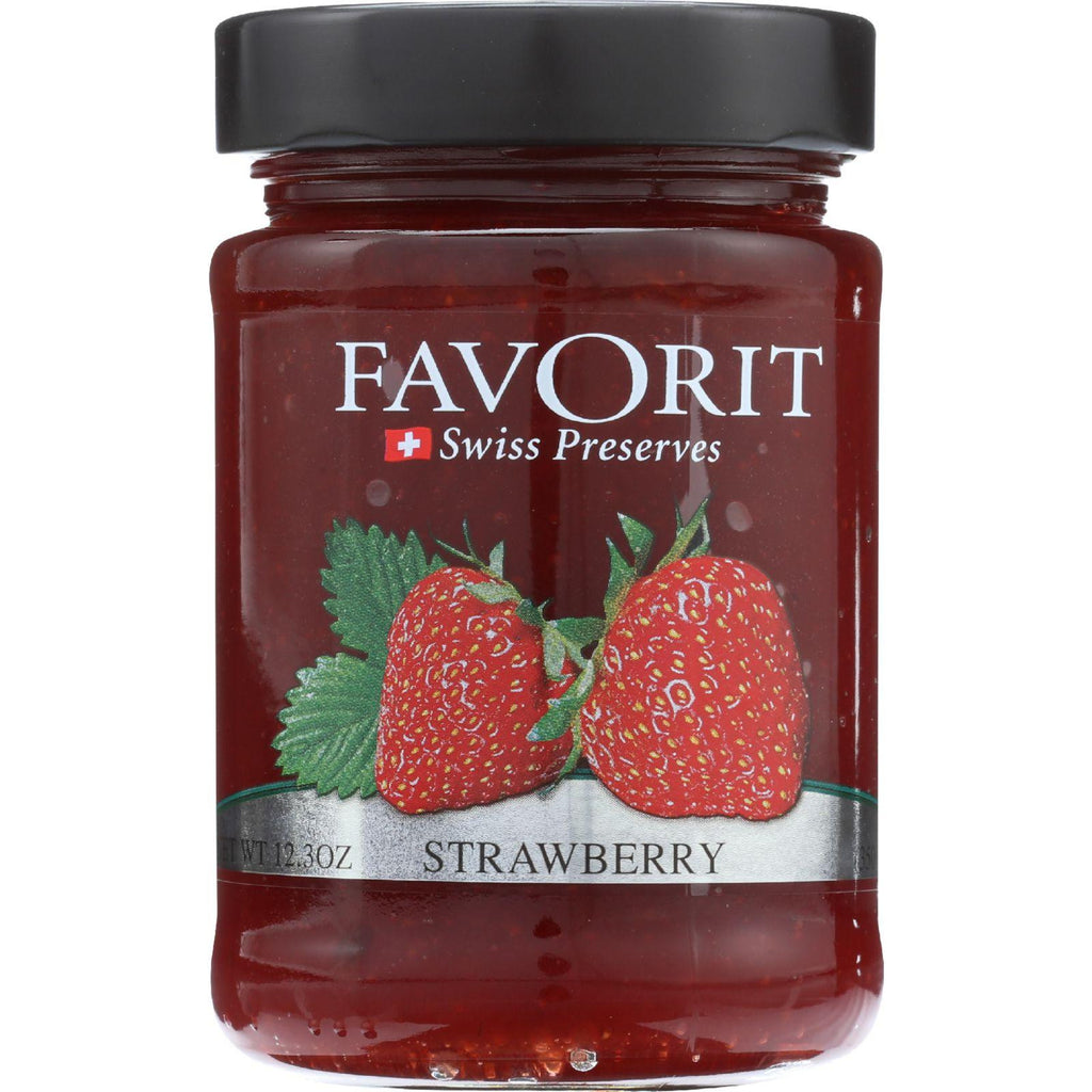 Favorit Preserves - Strawberry - 12.30-Ounce - Pack of 6-Favorit-pantryperks