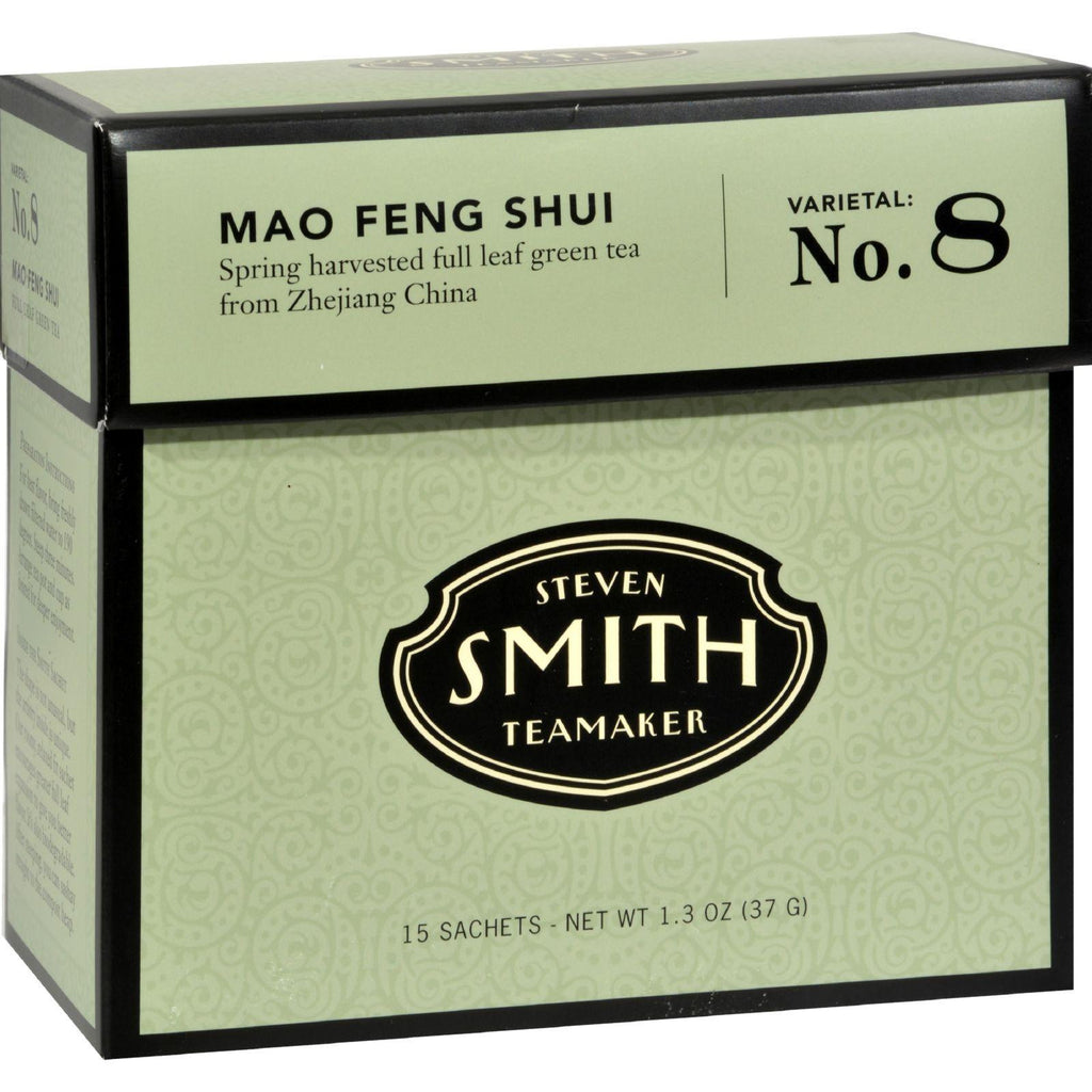 Smith Teamaker Green Tea - Mao Feng Shui - Case Of 6 - 15 Bags-Smith Teamaker-pantryperks