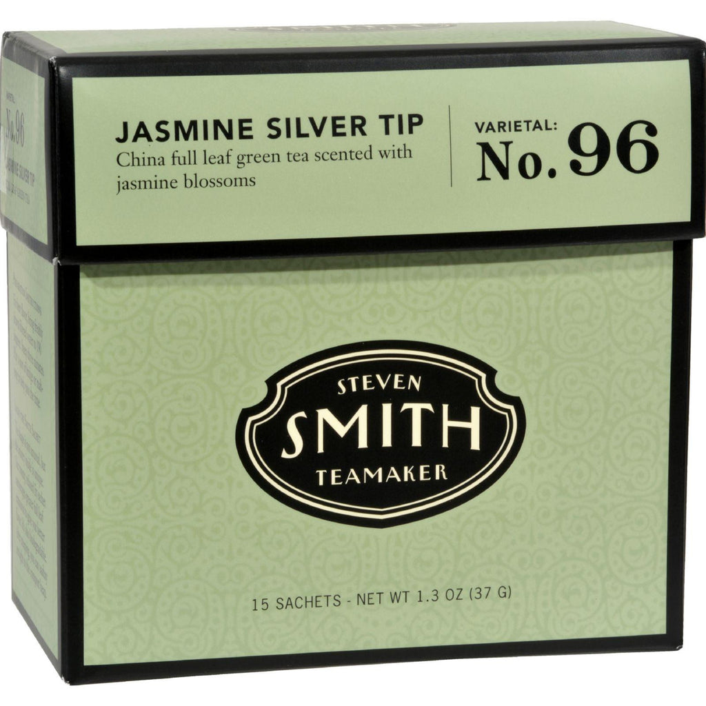 Smith Teamaker Green Tea - Jasmine Silver Top - 15 Bags-Smith Teamaker-pantryperks