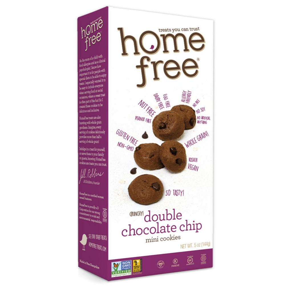 Homefree Gluten Free Double Chocolate Chip Mini Cookies - 5 Oz - Case Of 6-Homefree-pantryperks