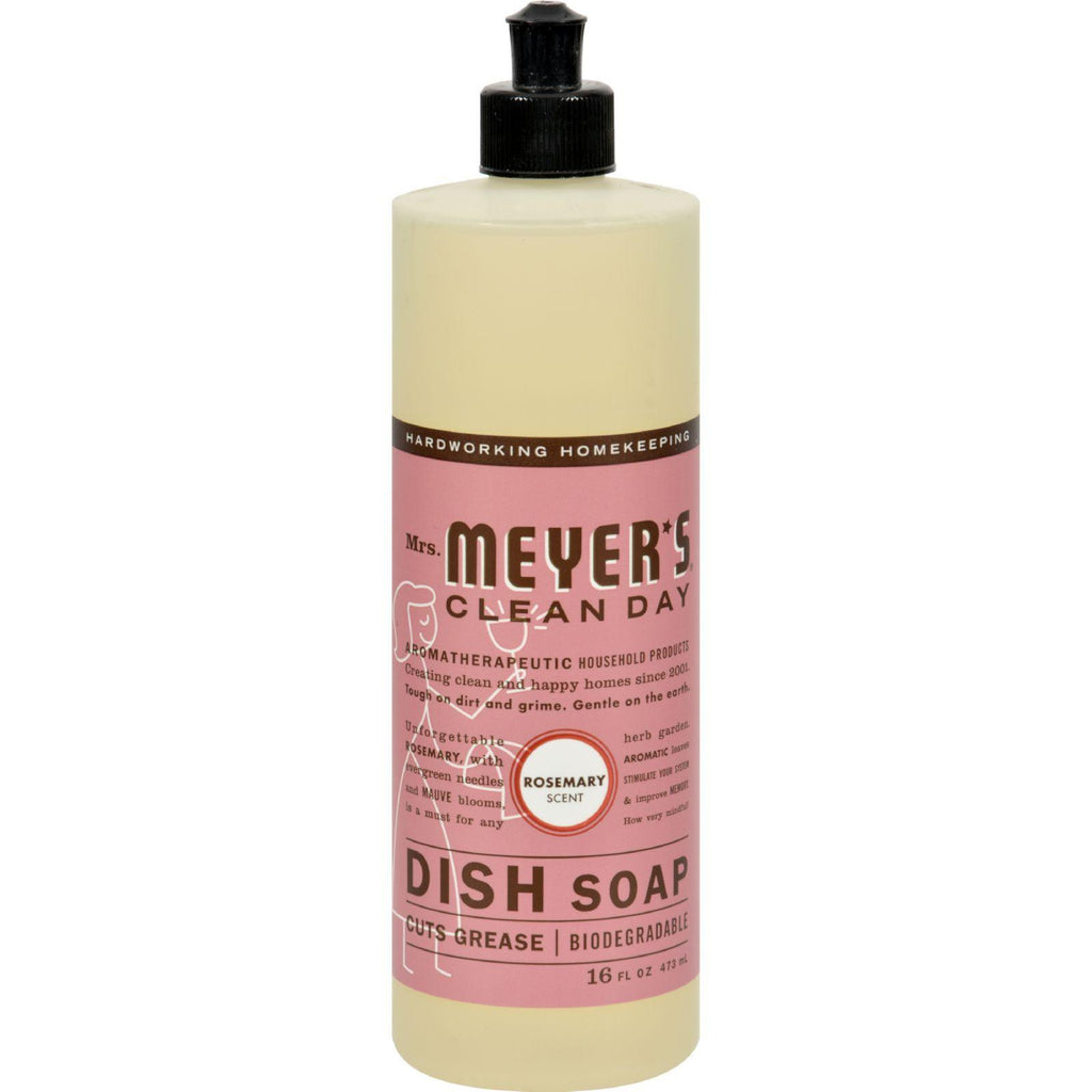 Mrs. Meyer's Liquid Dish Soap - Rosemary - Case Of 6 - 16 Oz-Mrs. Meyer's-pantryperks