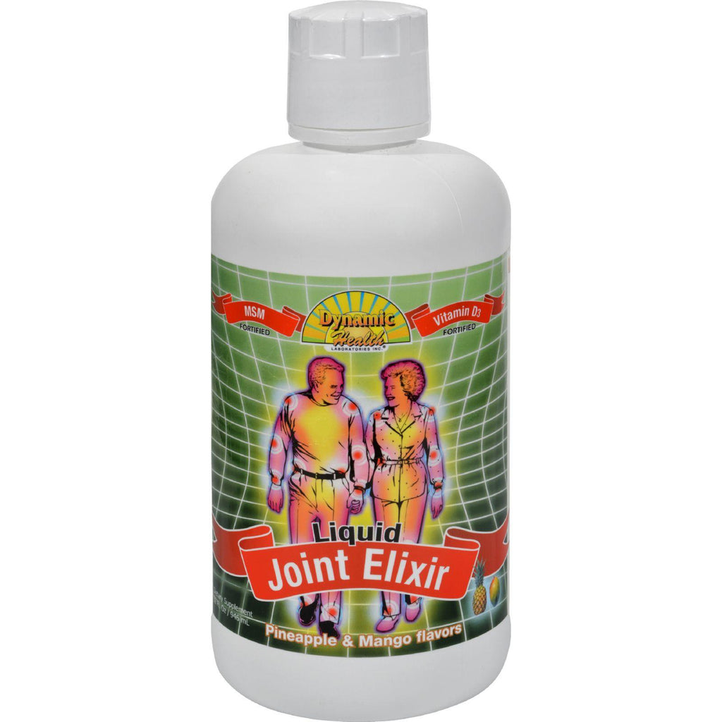 Dynamic Health Liquid Joint Elixir With Msm Pineapple And Mango - 32 Fl Oz-Dynamic Health-pantryperks
