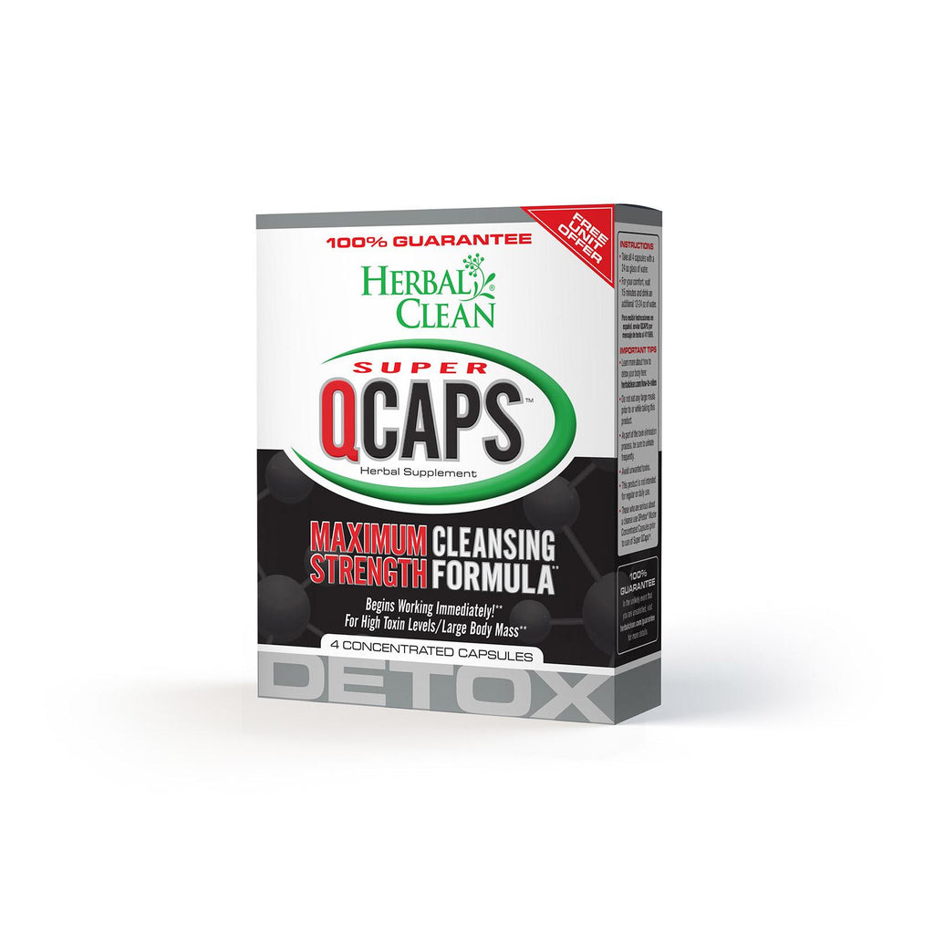 Herbal Clean Super Qcaps Maximum Strength - 4 Capsules-Herbal Clean-pantryperks