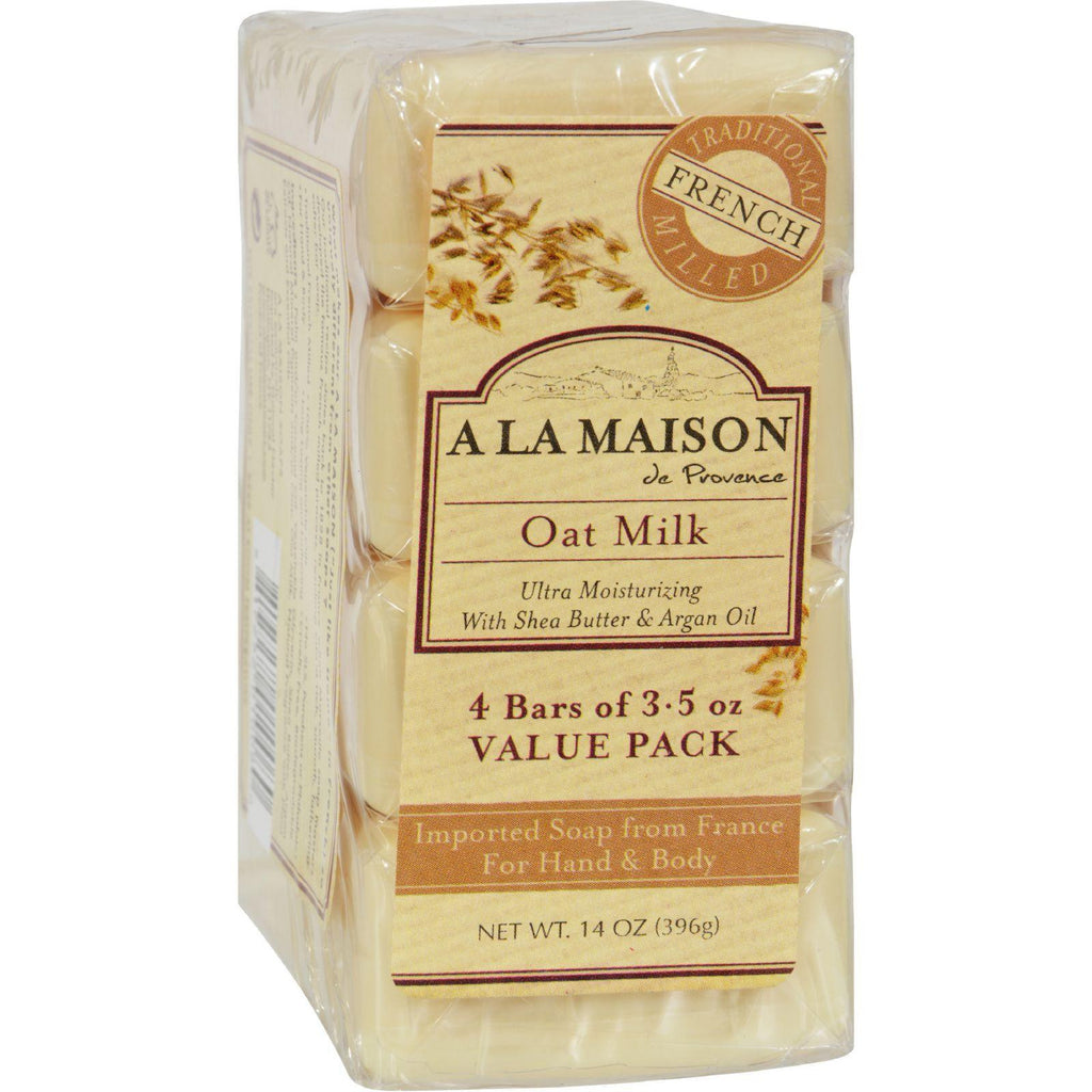 A La Maison Bar Soap - Oat Milk - Value 4 Pack-A La Maison-pantryperks