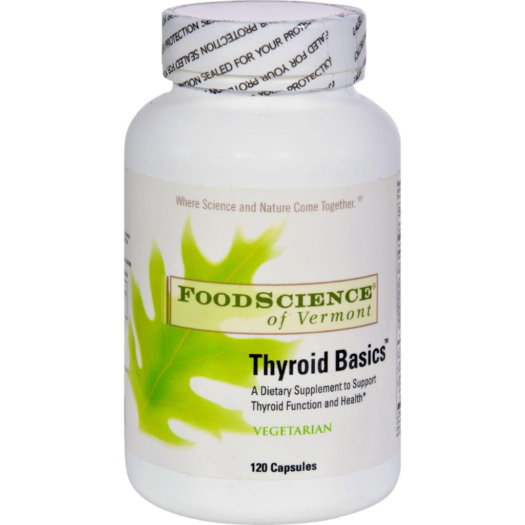 Foodscience Of Vermont Thyroid Basics - 120 Vegetarian Capsules-Food Science Of Vermont-pantryperks