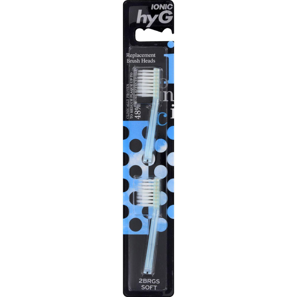 Dr. Tung's Ionic Hyg Replacement Brush Heads - Soft - Case Of 6 - 2 Pack-Dr. Tung's-pantryperks