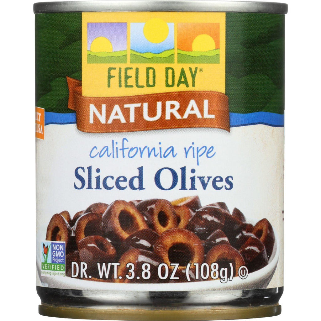 Field Day California Ripe Sliced Olive - 3.8 Ounce - 12 per case.-Field Day-pantryperks