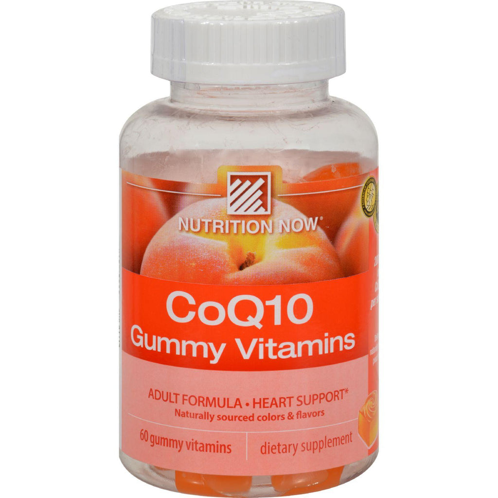 Nutrition Now CoQ10 Adult Gummy Vitamins Peach - 60 Gummies-Nutrition Now-pantryperks