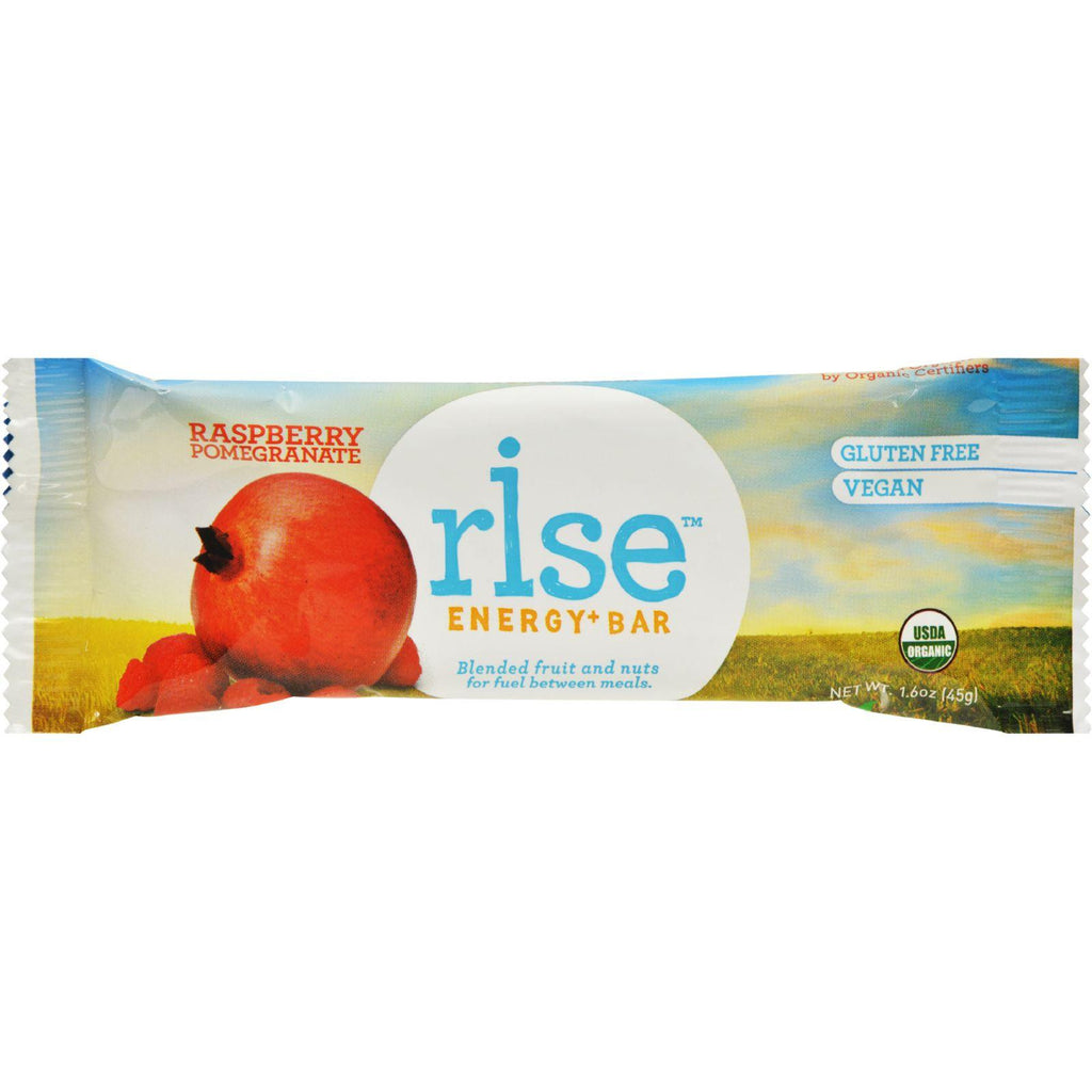 Rise Bar Organic - Vegan Energy Bars - Raspberry Pomegranate - 12-Count-Rise Bar-pantryperks