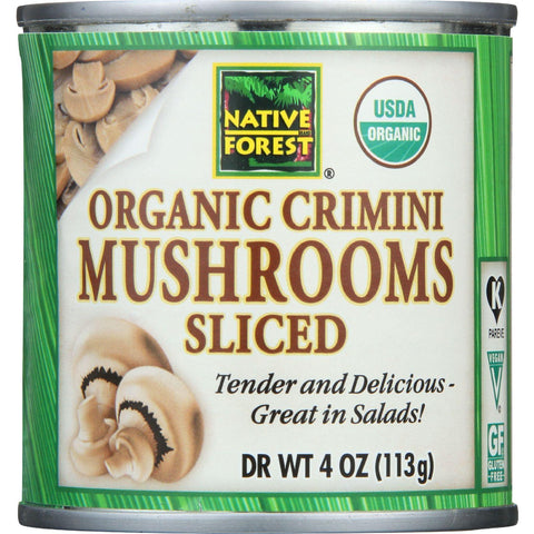 Native Forest Organic Crimini Mushrooms Sliced - 4 oz-Native Forest-pantryperks