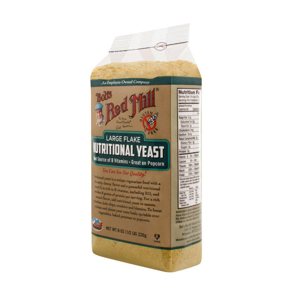 Bob's Red Mill Gluten Free Large Flake Nutritional Yeast - 8 Oz - Case Of 4-Bob's Red Mill-pantryperks