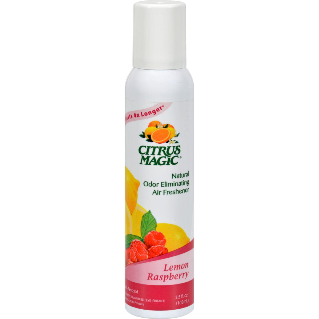Citrus Magic Natural Odor Eliminating Air Freshener - Lemon Raspberry - 3.5 Fl Oz - Case Of 6-Citrus Magic-pantryperks