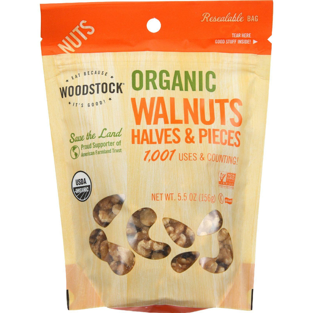 Woodstock Organic Walnuts Halves & Pieces - 5.5 oz-Woodstock-pantryperks