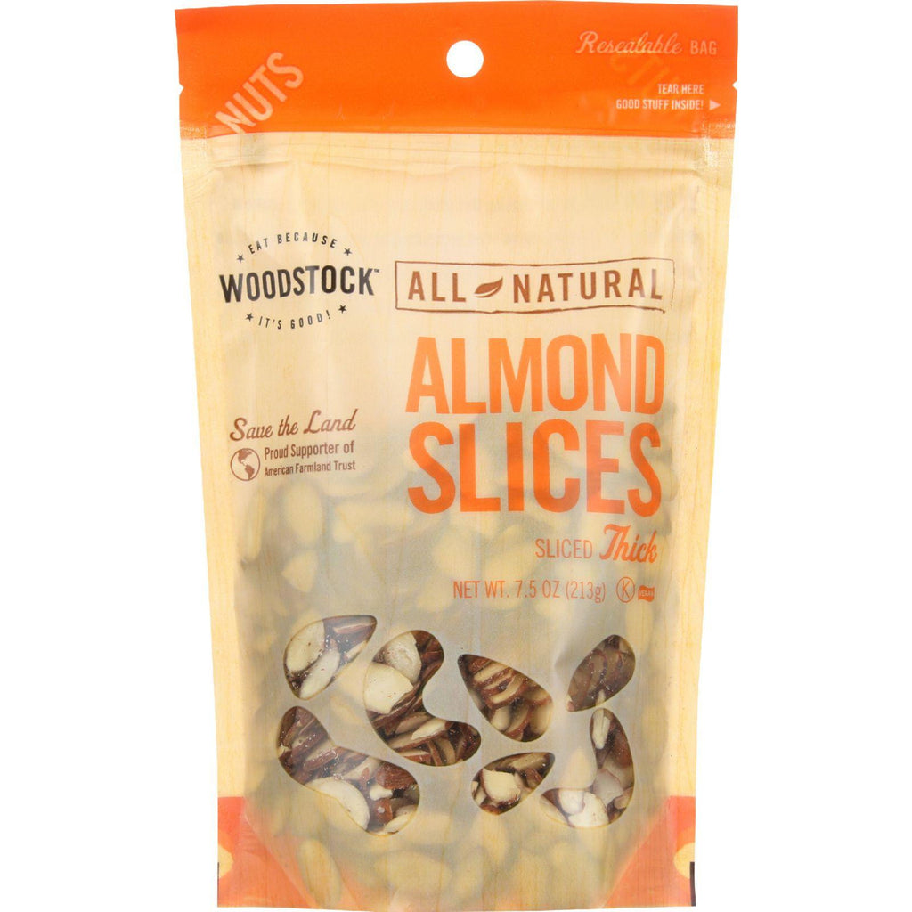 Woodstock Natural Almonds Thick Sliced - 8 oz-Woodstock-pantryperks