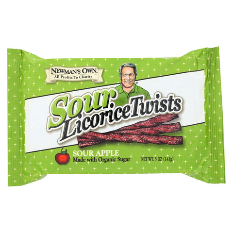 Newman's Own Licorice Twists Sour Apple - 5 oz-Newman's Own Organics-pantryperks