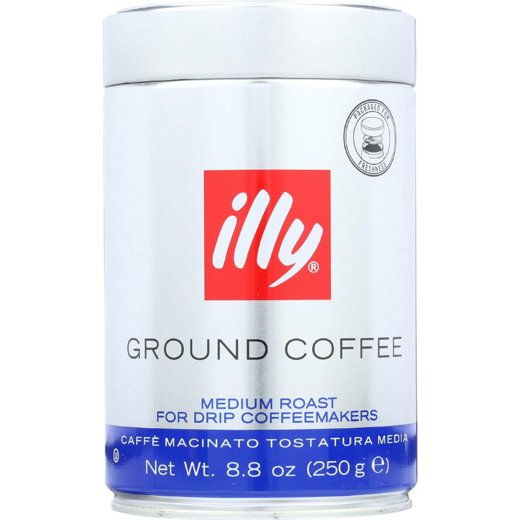 illy - Ground Coffee Drip Grind - Medium Roast - 8.8 Ounce Tin - Packaging May Vary-Illy Caffe Coffee-pantryperks